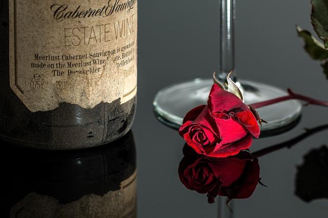 růže u láhve