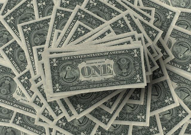 dolary, hromada bankovek